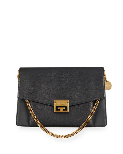 Quick Look. Givenchy · GV3 Medium Pebbled Leather Shoulder Bag ... bf1fc4bd0fff1