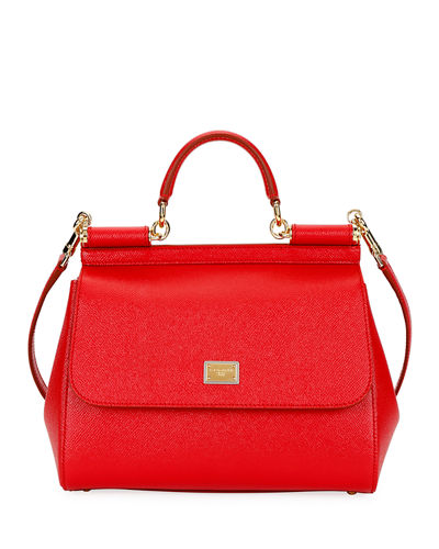 Quick Look. Dolce   Gabbana · Sicily Medium Calf Leather Satchel Bag 17918c29eaab5
