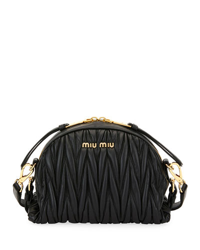 My Miu Matelassé Small Crossbody Bag