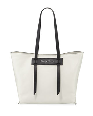 Patch Small Grace Lux Tote Bag in Black/White