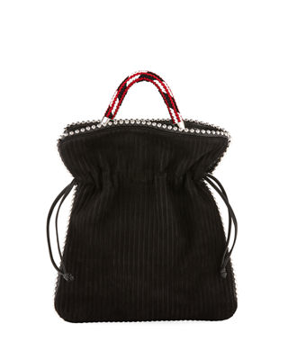 Image 1 of 4: Trilly Big Suede Drawstring Pouch Bag