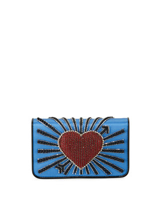 Image 1 of 4: Ginny Heart Cupid Clutch Bag