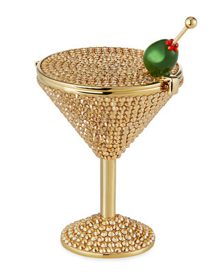 Judith Leiber Couture Martini Crystal Pill Box