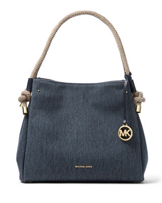MICHAEL Michael Kors Isla Large Denim Tote Bag