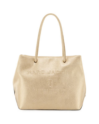 Metallic Logo Shopper Tote Bag