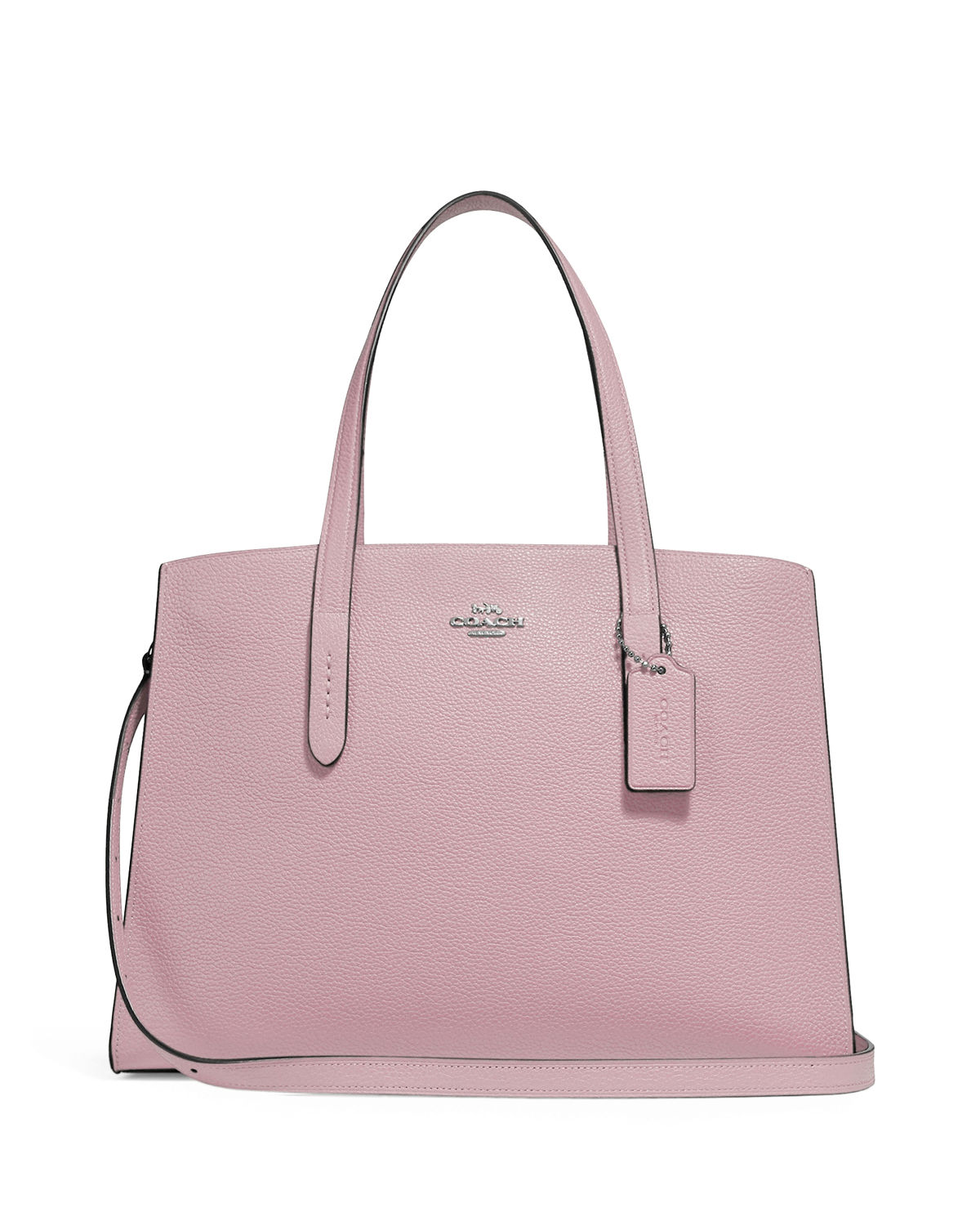 ae845a87d8 Coach 1941 Charlie Polished Pebbled Leather Carryall Tote Bag ...