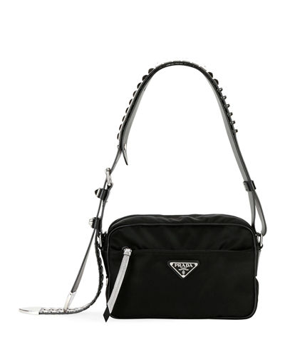 800b6daebdb0 Quick Look. Prada · Prada Black Nylon Shoulder Bag ...