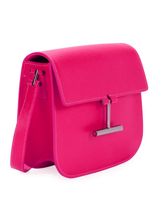 Image 2 of 3: Tara Mini Leather Crossbody Bag