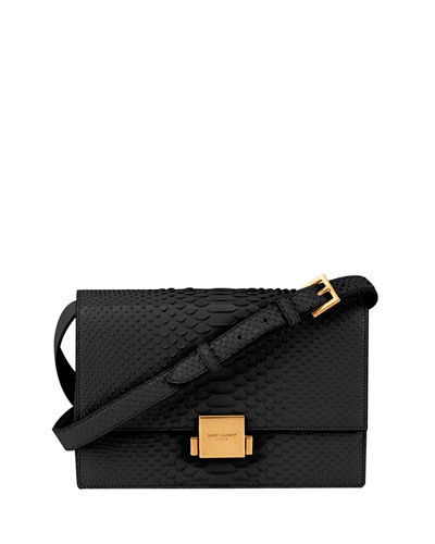 Saint Laurent Bellechase Medium Python Crossbody Bag