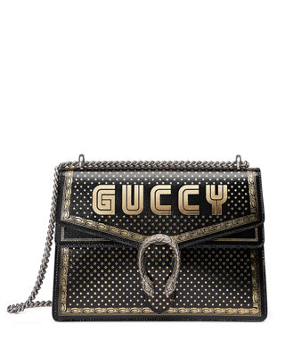 Gucci Dionysus GUCCY Medium Leather Shoulder Bag