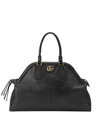 Image 1 of 5: RE(BELLE) Large Leather Top Handle Bag