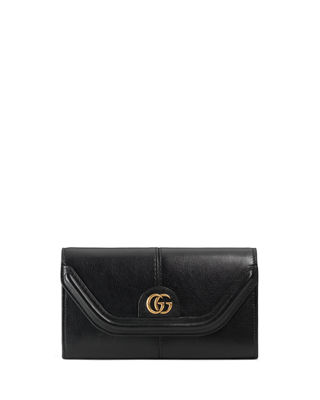 Gucci Linea Small GG Leather Continental Wallet