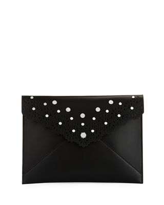 Image 1 of 3: Leo Leather Clutch Bag