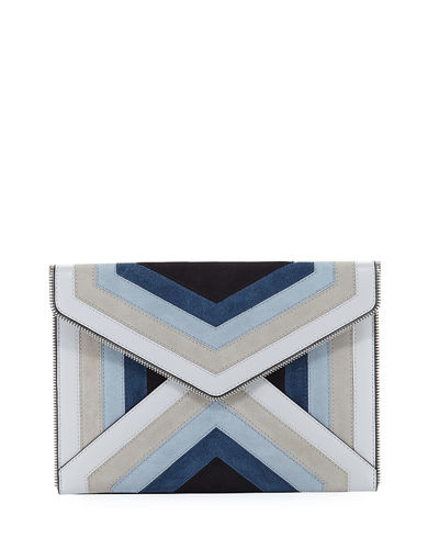 Leo Chevron Envelope Clutch Bag