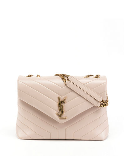 Loulou Monogram YSL Medium Quilted V-Flap Chain Shoulder Bag