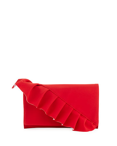 Capri Ruffled Clutch Bag