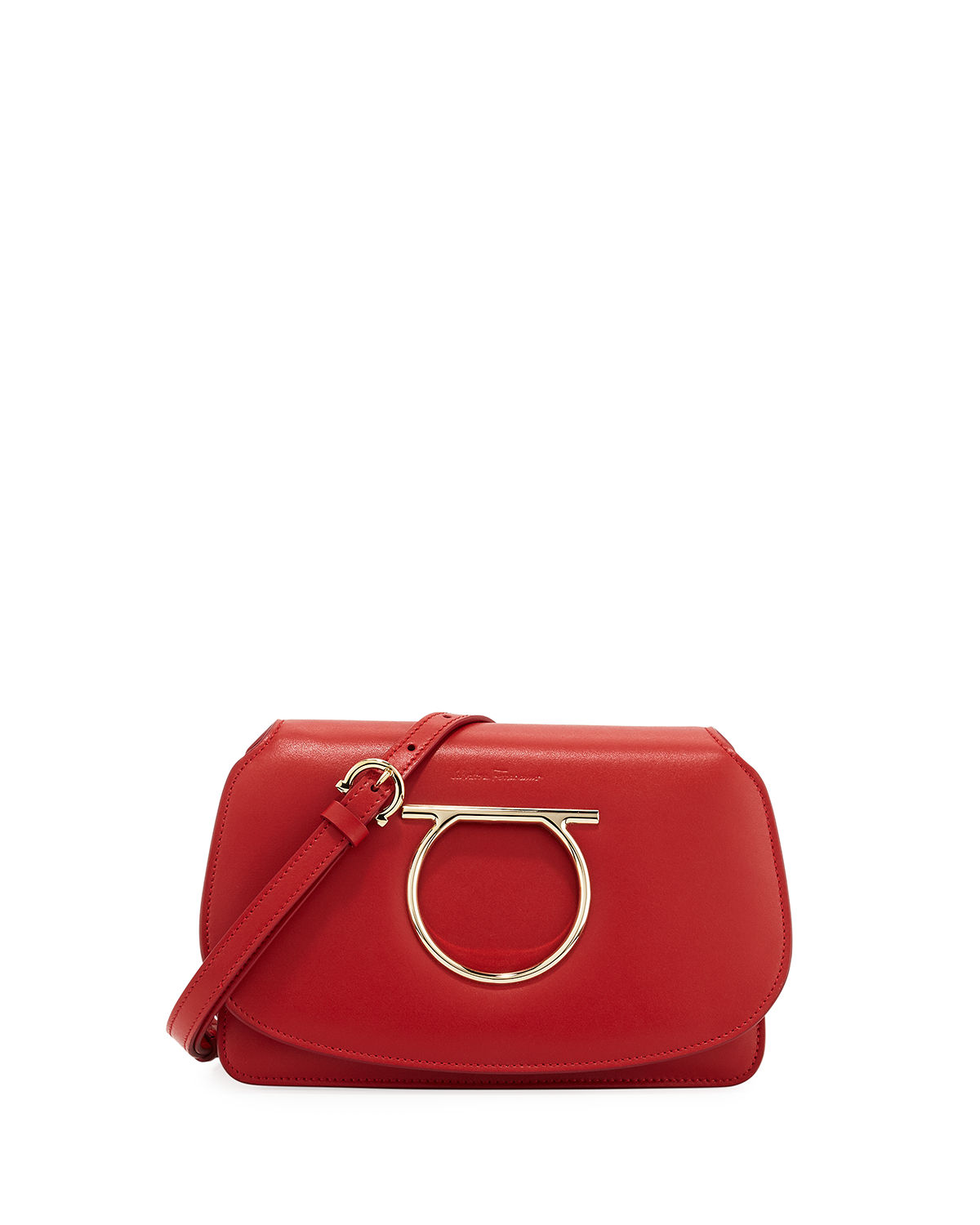 Gancio Vela Smooth Leather Crossbody Bag