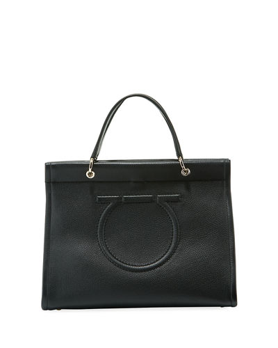 Shopping Lux Pebbled Leather Tote Bag