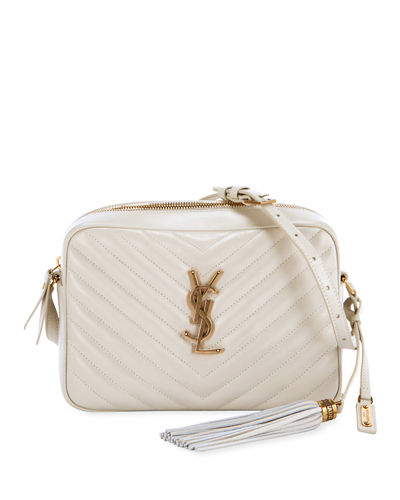 Loulou Monogram YSL Medium Chevron Quilted Leather Camera Shoulder Bag - ...