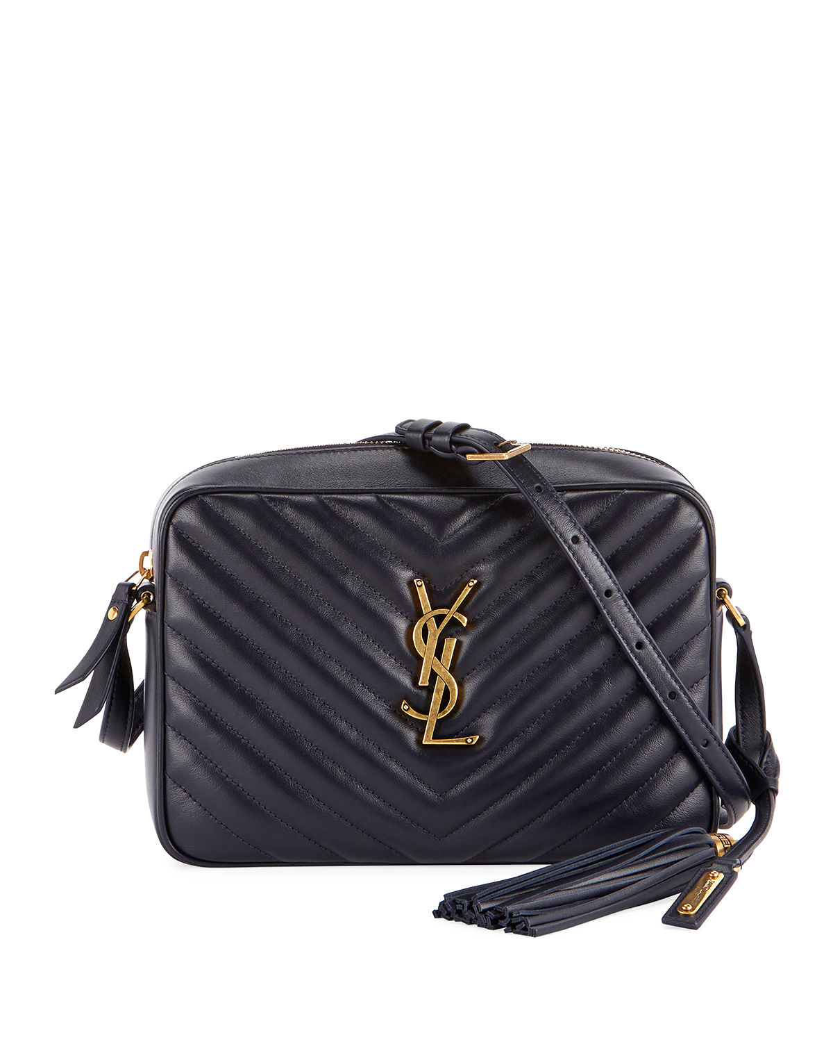 Saint LaurentLoulou Monogram YSL Medium Chevron Quilted Leather Camera  Shoulder Bag - Brilliant Golden Hardware a368056e8c