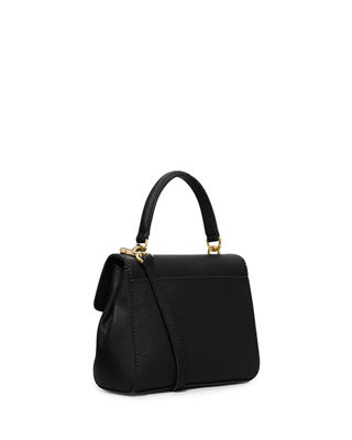 Image 3 of 3: Ava Extra-Small Saffiano Leather Satchel Bag