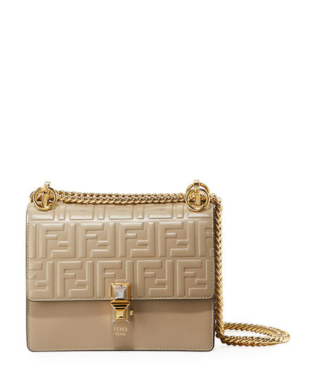 Fendi Kan I Small Liberty FF Embossed Shoulder Bag | Neiman Marcus