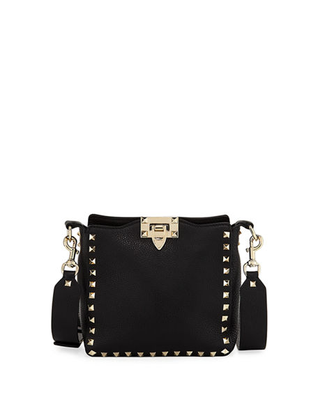 Valentino Garavani Rockstud Mini Vitello Stampa Leather Hobo Bag