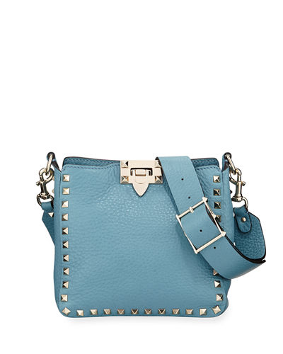 90357cb1ace2a Quick Look. Valentino Garavani · Rockstud Mini Vitello Stampa Leather Hobo  Bag
