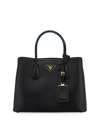 Prada Saffiano Cuir Small Double Bag