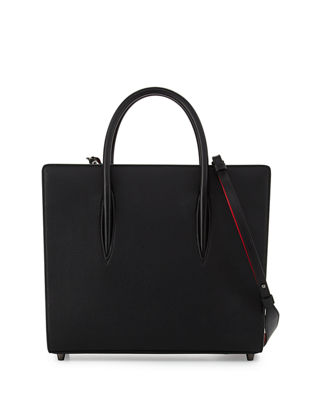 Paloma Medium Spike Leather Tote Bag in Black/ Black