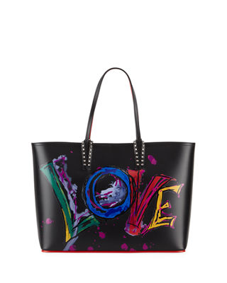 Christian Louboutin Cabata Calf Paris Love Tote Bag