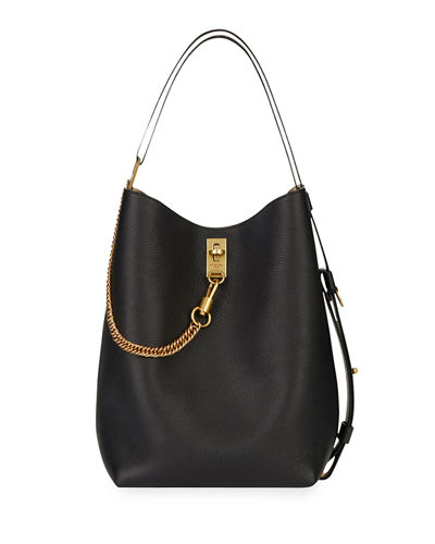 GV Medium Leather Bucket Bag