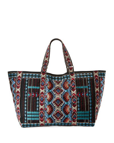 Sonoma Cotton Canvas Embroidered Tote Bag