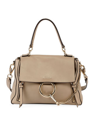 Chloe Faye Daye Mini Leather/Suede Shoulder Bag