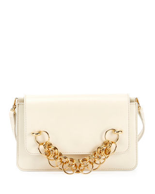 White Drew Bijou Leather Clutch Bag