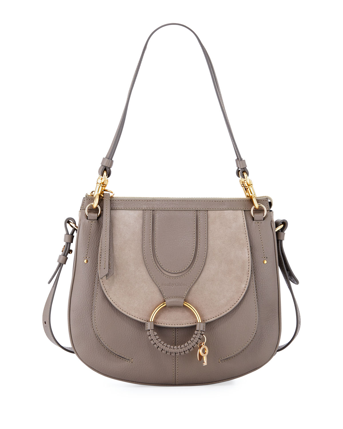 Hana Leather and Suede Crossbody Bag