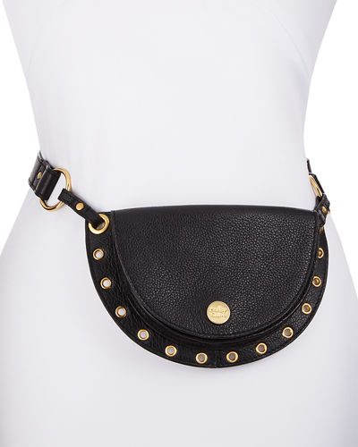 Kriss Belt Bag/Fanny Pack with Grommet Trim