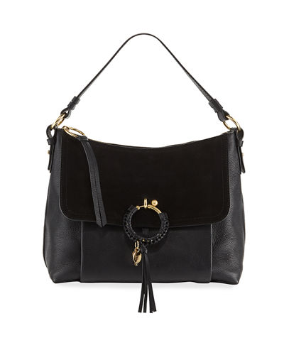 Joan Medium Leather/Suede Crossbody Bag