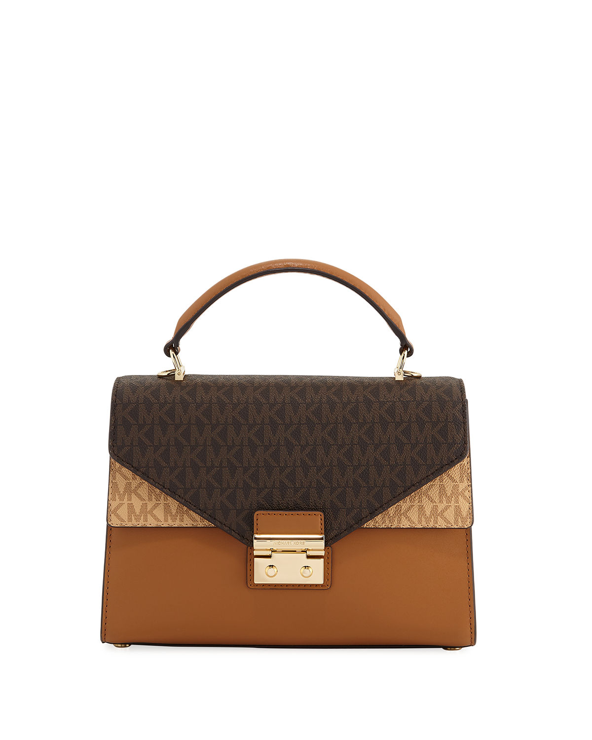 Sloan Medium Double Flap Satchel Bag