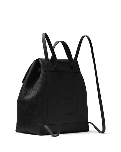 Junie Medium Leather Flap Backpack