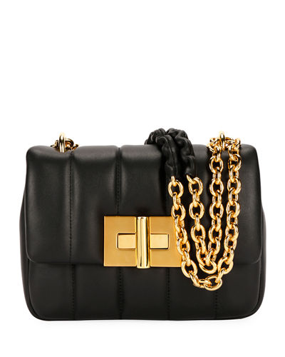 Natalia Matelassé Leather Large Shoulder Bag