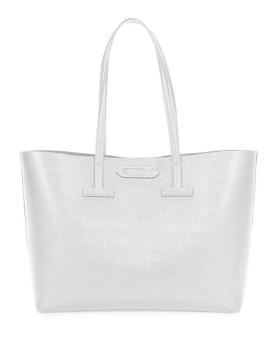 Saffiano Leather Small T Tote Bag