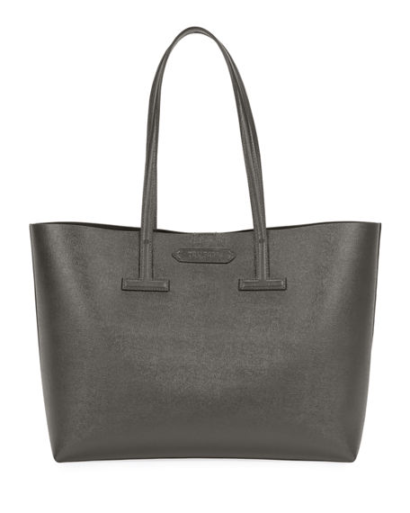 TOM FORD Saffiano Leather Small T Tote Bag