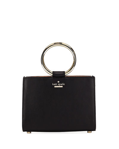 white rock road sam mini leather ring-handle bag