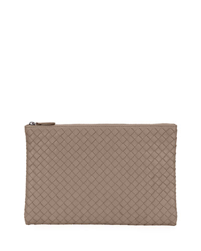 Bottega Veneta Medium Intrecciato Zip Pouch Bag