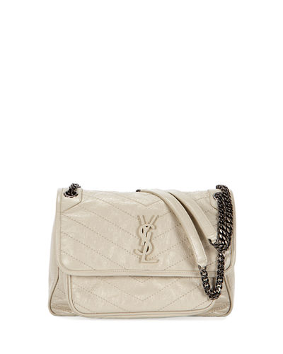 c21787ebffe0 Quick Look. Saint Laurent · Niki Medium Monogram YSL Shiny Waxy Quilted  Shoulder Bag