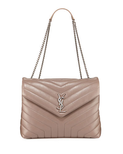 Saint Lau Loulou Monogram Ysl Medium Chain Shoulder Bag