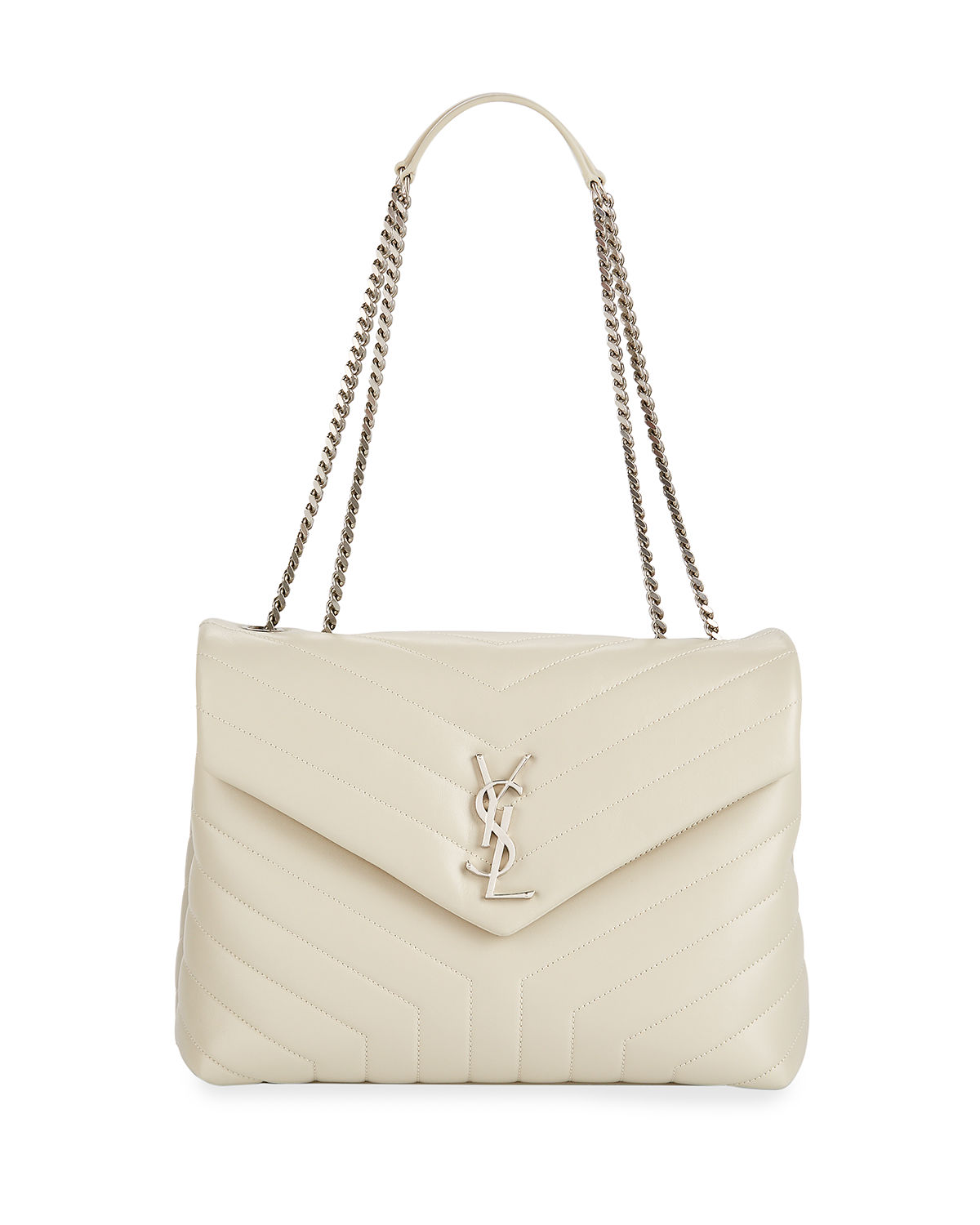 Saint Laurent Loulou Monogram YSL Medium Chain Shoulder Bag   Neiman ... 8d3f31fa03