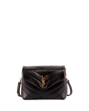 d54a7f4f8d9 Saint Laurent Loulou Monogram YSL Mini V-Flap Calf Leather Crossbody Bag -  Lt.