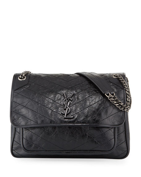 Saint Laurent Niki Monogram YSL Large Flap Shoulder Bag
